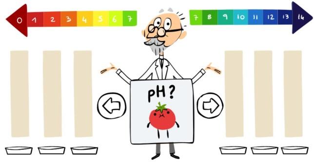S.P.L. S?rensen Google Doodle (Picture: Google)