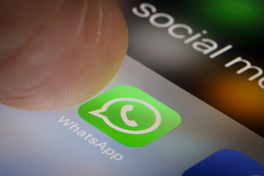 Berlin, Germany - February 12: In this photo illustration the app of WhatsApp is displayed on a smartphone on February 12, 2018 in Berlin, Germany. (Photo Illustration by Thomas Trutschel/Photothek via Getty Images)