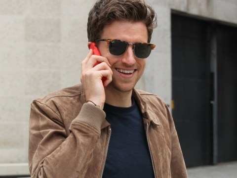 Greg James is all smiles as he's seen for first time since landing Radio 1 Breakfast Show as Nick Grimshaw steps down