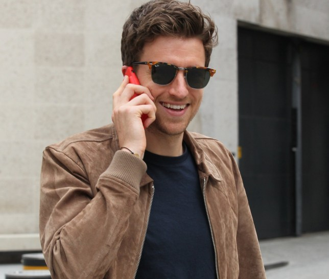 LONDON, ENGLAND - MAY 31: Greg James is all smiles seen at the BBC studios on May 31, 2018 in London, England. (Photo by Simon James/GC Images)