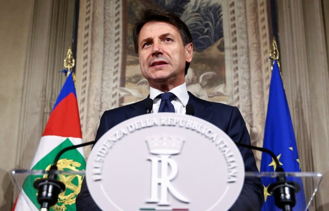 Italy's Prime Minister-designate Giuseppe Conte talks to the media at the Quirinal Palace in Rome, Italy, May 31, 2018. REUTERS/Alessandro Bianchi
