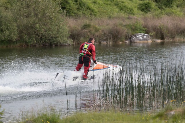 The Scene at an old quarry near Roslevan , Ennis where two teenagers got into difficulty while swimming on Thursday afternoon. Photograph by Eamon Ward