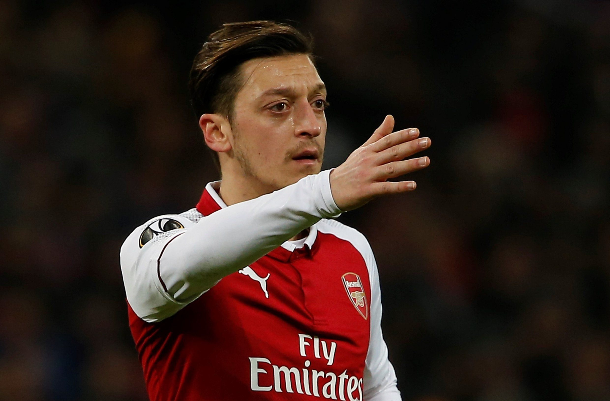 MOSCOW, RUSSIA - APRIL 12: Mesut Ozil of Arsenal is seen during the UEFA Europa League Quarter-finals second leg match between CSKA Moscow and Arsenal at CSKA VEB Arena in Moscow, Russia on April 12, 2018. (Photo by Sefa Karacan/Anadolu Agency/Getty Images)