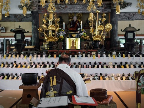 Japanese priests hold funeral for all those toy robot dogs you abandoned in your shed