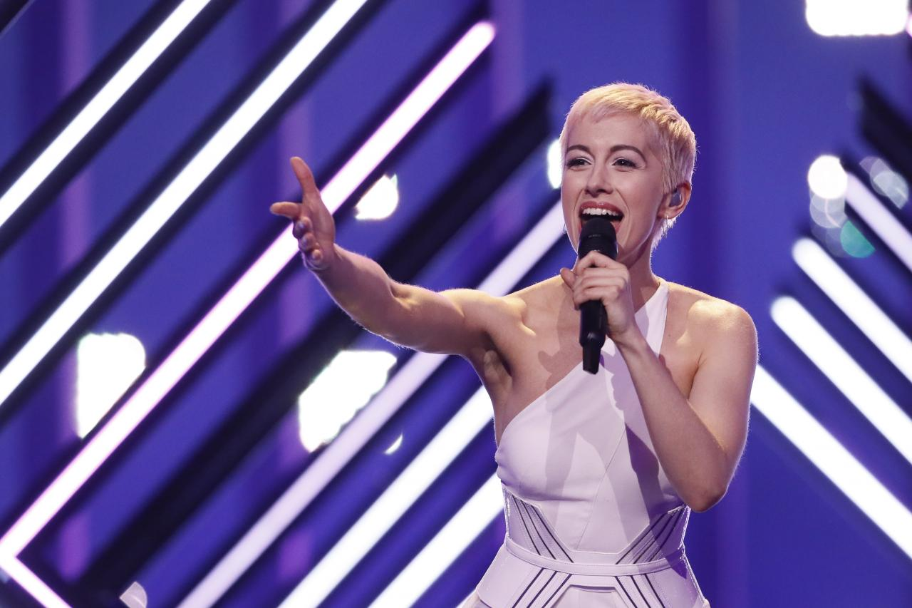 SuRie represented the UK at this year's Eurovision (Picture: BBC)