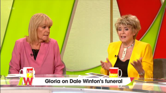 Gloria Hunniford opened up about Dale's death (Picture: ITV)