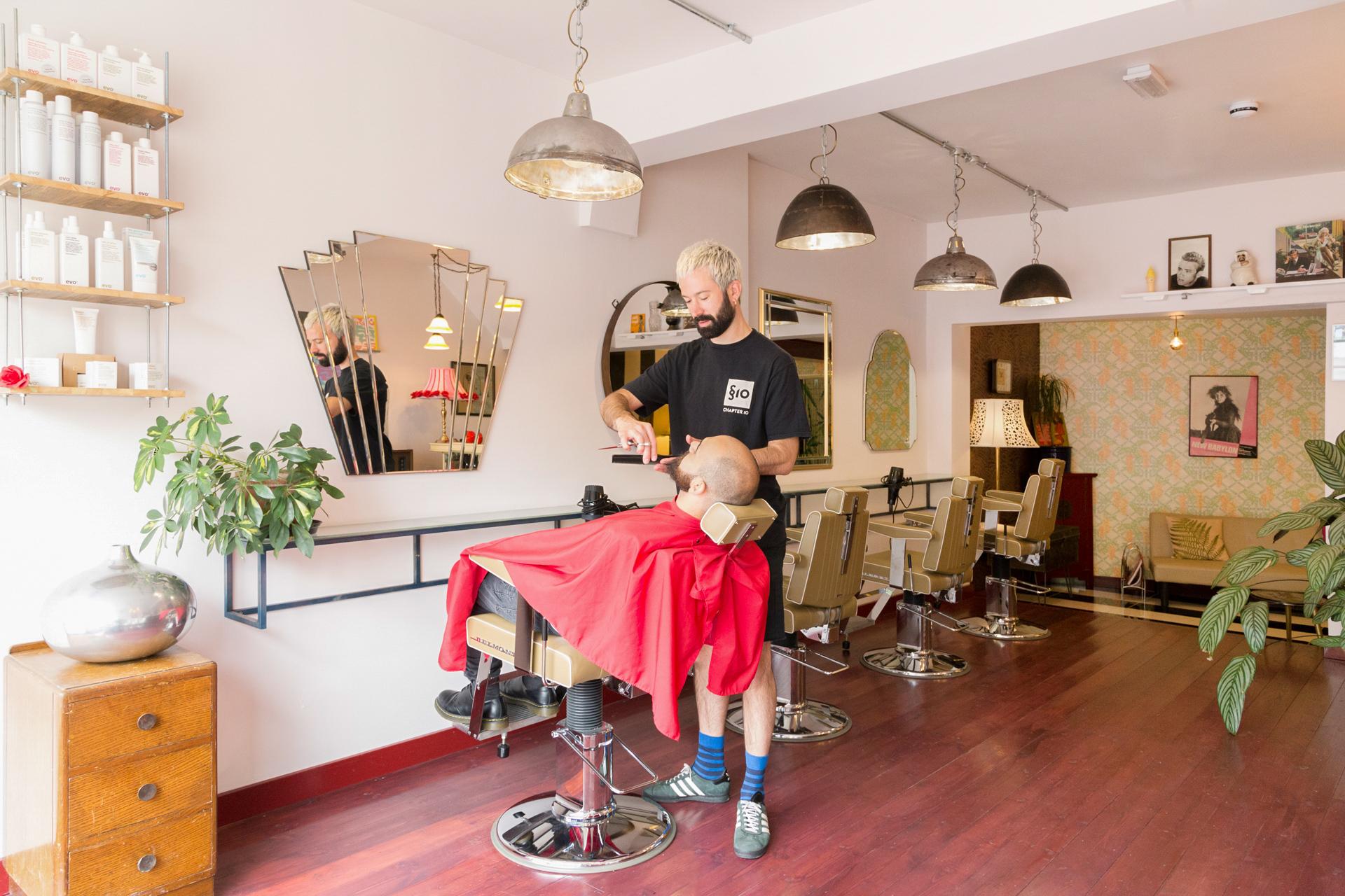 James cutting hair at WhiP Hackney