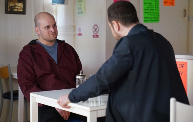 Stuart and Mick talk about his secret in EastEnders