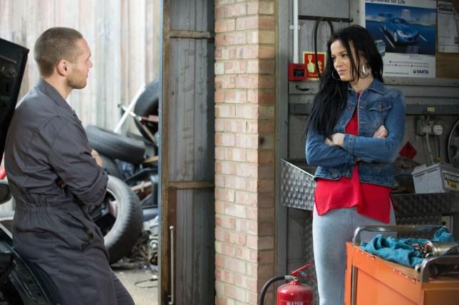 Hayley flirts with Keanu in EastEnders