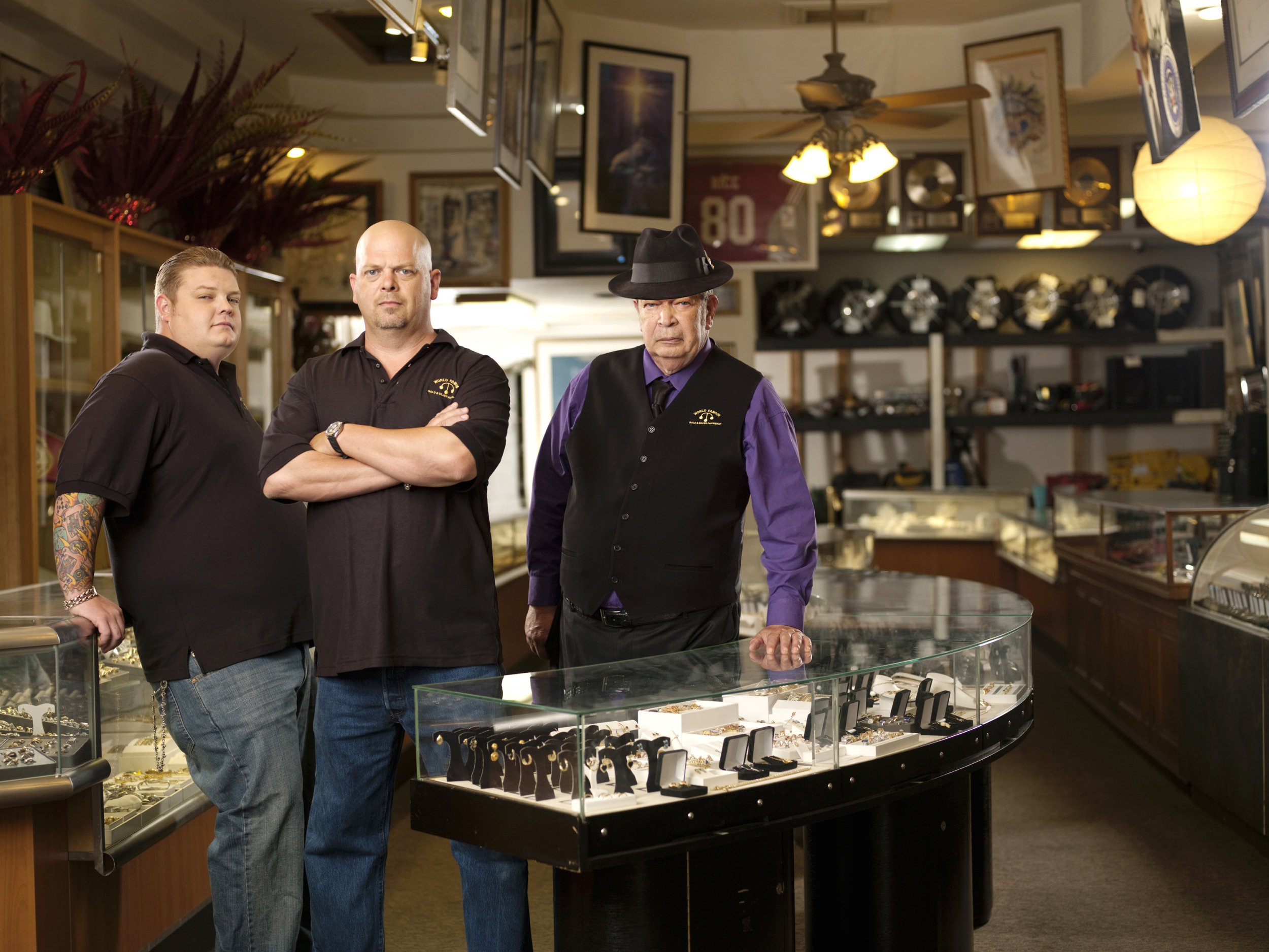 Television Programme: Pawn Stars with Corey Harrison, Rick Harrison and Richard Harrison. Pawn Stars, series 1 Corey Harrison, Rick Harrison, and Richard Harrison. Licensed by Channel 5 broadcasting