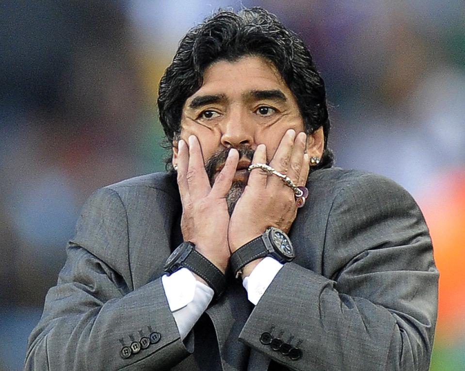 Why does Diego Maradona wear two watches?