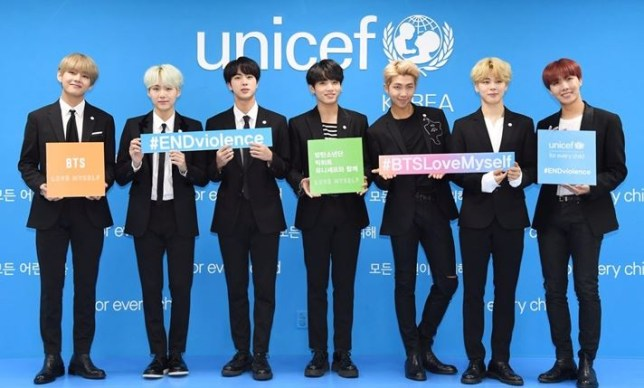 BTS for UNICEF