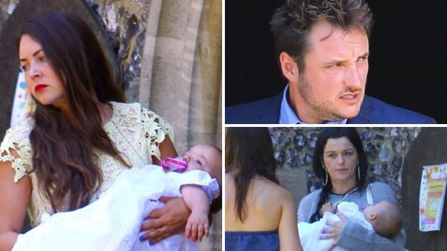 EastEnders christening pictures feature Stacey, Martin and Hayley