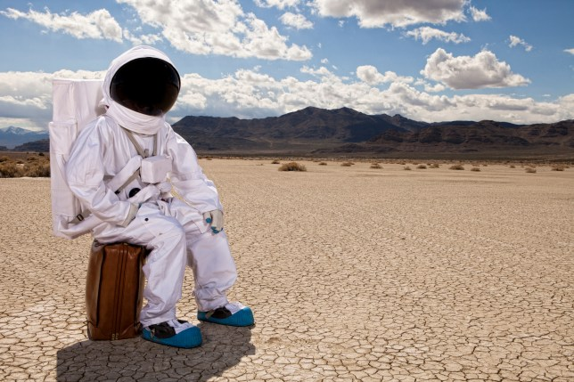 man in space suit