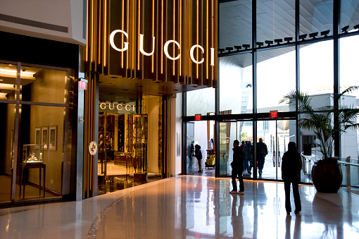 Gucci Boutique at Crystals retail and entertainment complex in Las Vegas