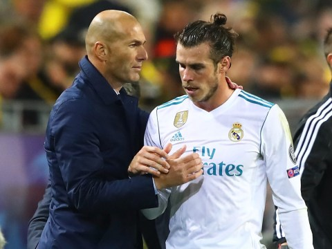 Gareth Bale the only Real Madrid player to snub Zinedine Zidane on social media