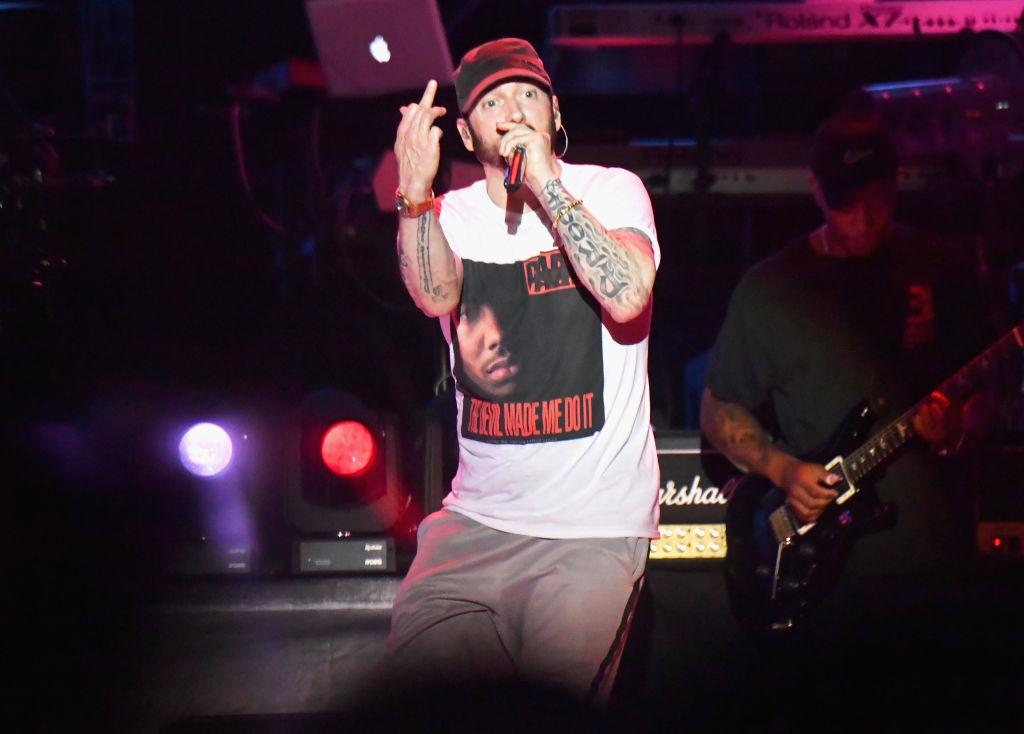 Eminem hits back after he was slammed for 'playing gunshot noises' at gig in light of Las Vegas massacre