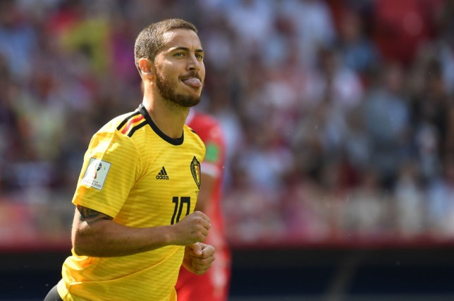 8faceed25 Chelsea star Eden Hazard sets World Cup record with Belgium goal against  Tunisia