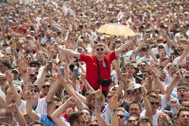 Festival goers at the Isle Of Wight festival 2018