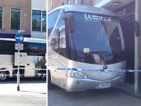 Coach driver blocks NatWest entrance after they 'wrongfully' close his business account