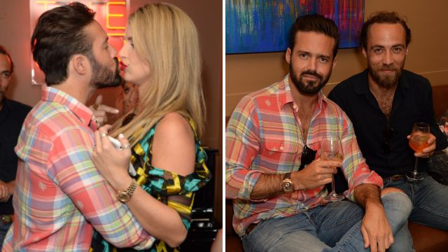 Spencer Matthews and Vogue Williams pack on PDA as they party with Kate Middleton's brother
