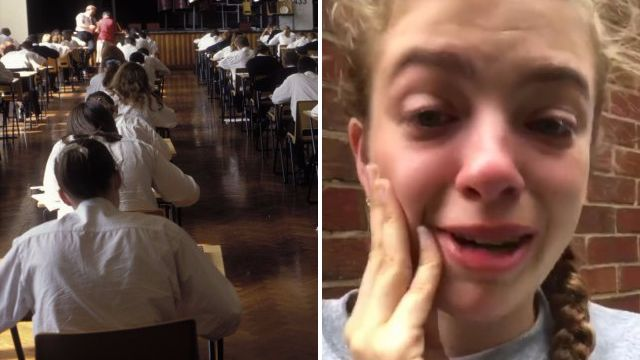 Student sobs on camera as teens reveal panic attacks over GCSE stress