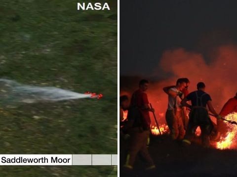 Dramatic new images of Saddleworth Moor Fire which can now be seen from space