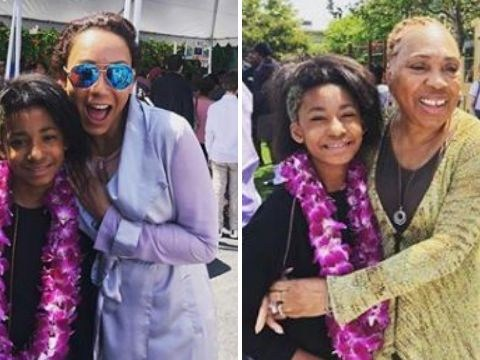 Mel B's daughter graduates from primary school and Eddie Murphy's mum turns up for the big day