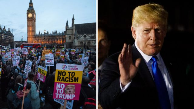 Nearly 50,000 say they're going to a protest when Donald Trump visits UK