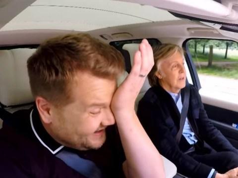 James Corden gets emotional belting out Beatles classics with Paul McCartney on Carpool Karaoke