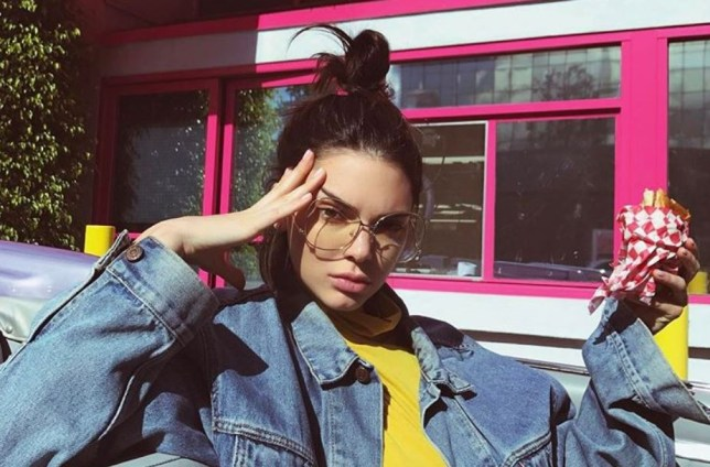 kendall jenner migraine pose
