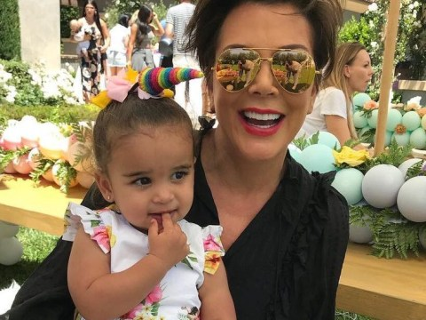 Kris Jenner and Dream Kardashian have the best time at North and Penelope's unicorn birthday party