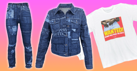 This label is printing #MeToo news stories on jeans and denim jackets
