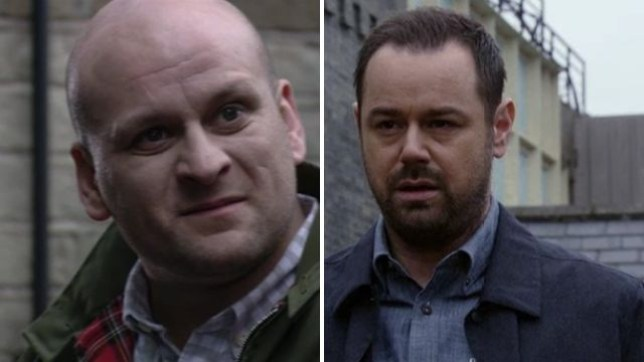 Mick and Stuart fight in EastEnders