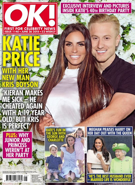 Katie Price reveals soon-to-be ex-hubby Kieran cheated on her again