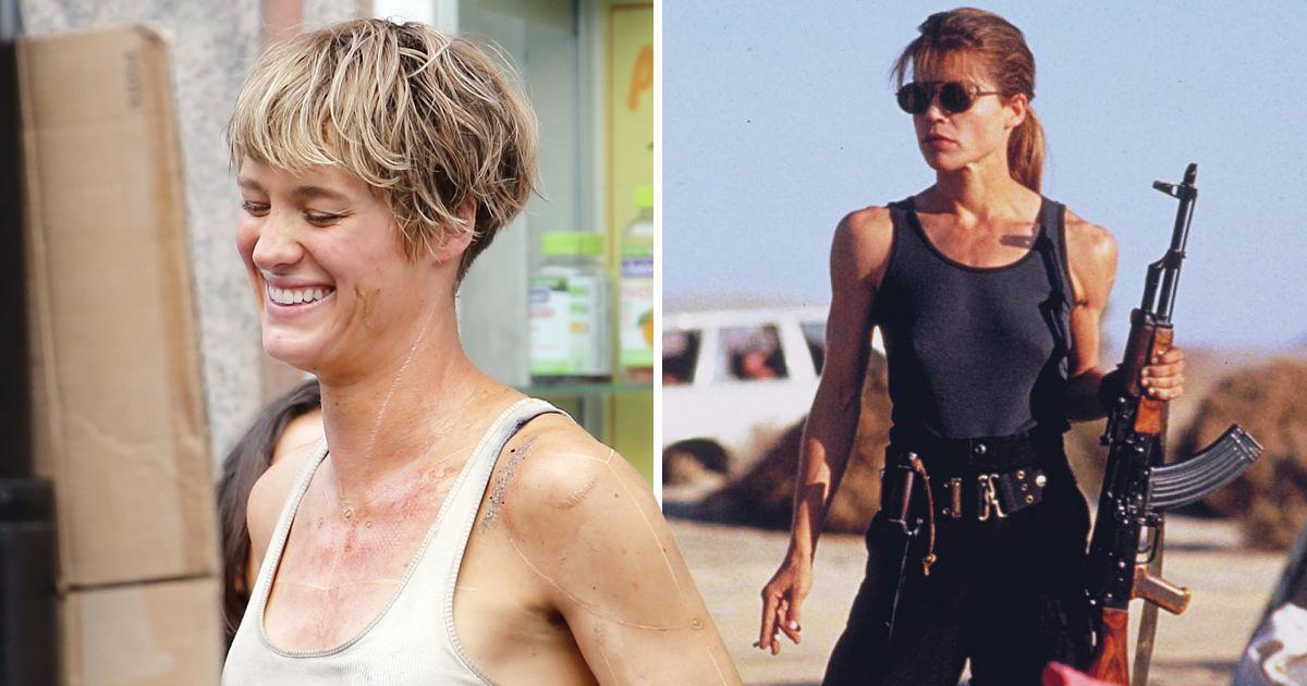 Linda Hamilton is back as the Terminator franchise reboots with Mackenzie Davis