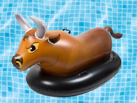 Challenge your mates to a duel on this buckin' bronco pool float
