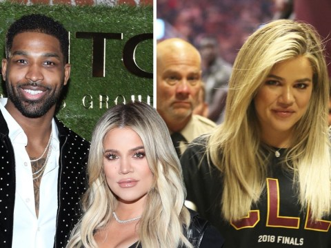 Khloe Kardashian puts cheat drama behind her to support Tristan Thompson at Cavs game