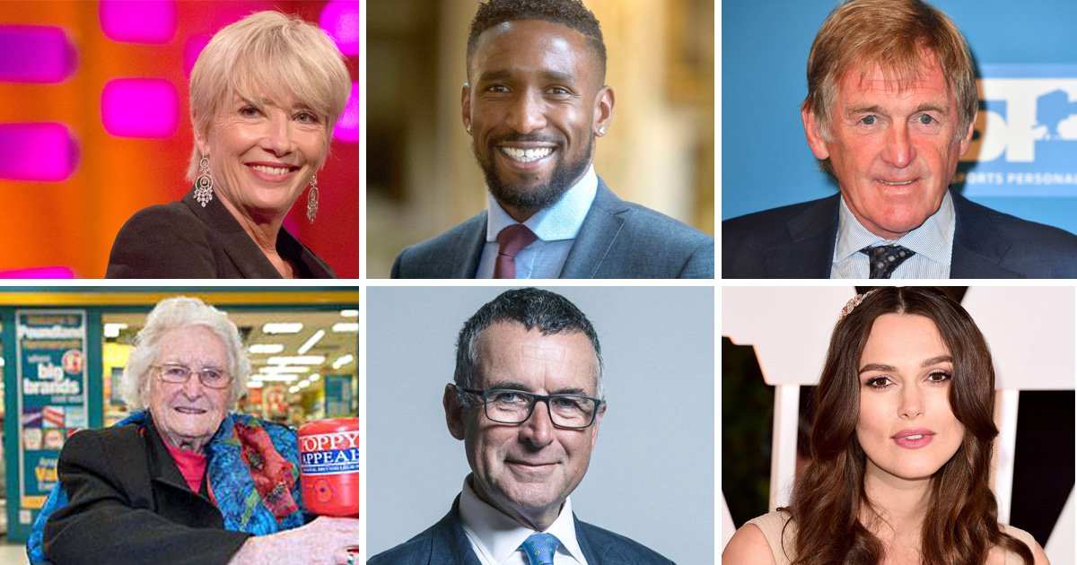 Kenny Dalglish, Emma Thompson and Ms Dynamite named in Queen's Birthday Honours list