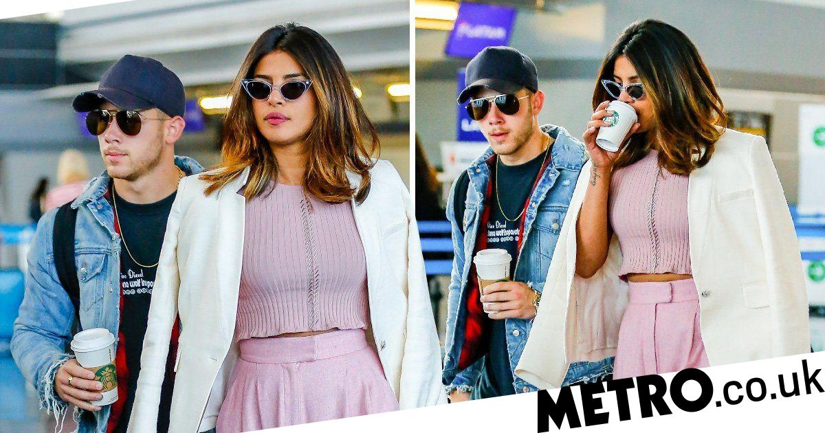 Rumoured couple Nick Jonas and Priyanka Chopra pictured at airport together