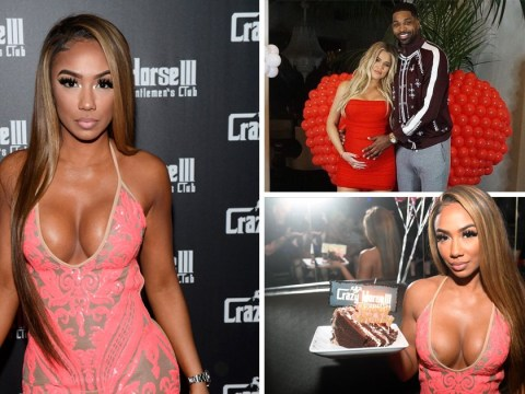 Tristan Thompson's rumoured 'side piece' Lani Blair has her cake and eats it at Las Vegas strip club