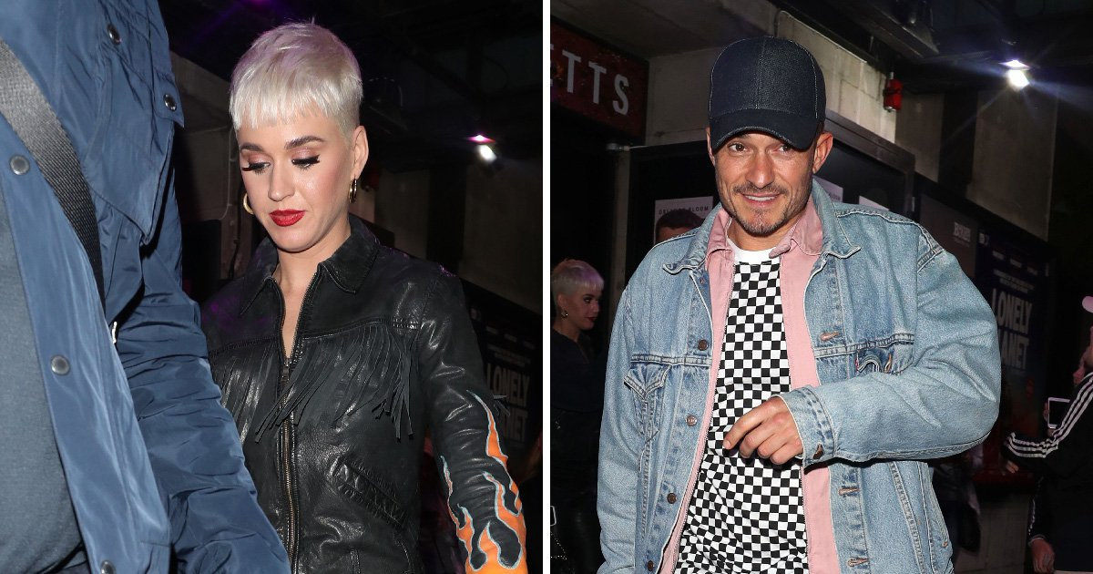 Katy Perry looks rocker-chic during date night with Orlando Bloom before kicking off UK tour