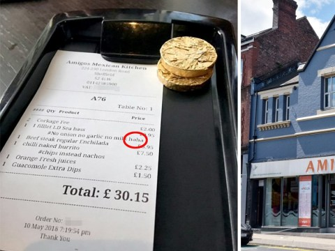 Blogger with IBS upset over waitress writing 'haha' on her bill