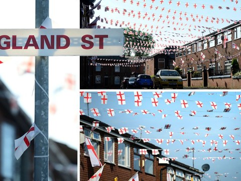 Is there a more patriotic street in Britain than this one with 6,000 St George's crosses?