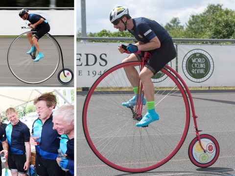 Cyclist breaks the record for the furthest travelled on a Penny Farthing in one hour