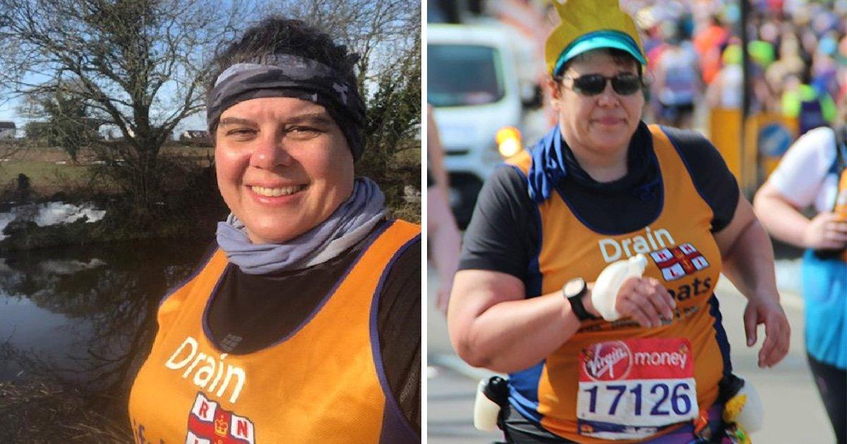 Mum ran 18 miles of London Marathon without realising she'd broken her pelvis