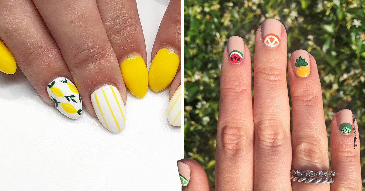 (XX) Fruit themed nail art