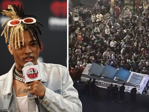 Police 'forced to shut down' XXXTentacion memorial in LA after rapper's mourning fans 'cause chaos'
