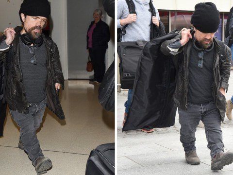Peter Dinklage arrives in Aberdeen with suit bag in hand ahead of Kit Harington and Rose Leslie's wedding