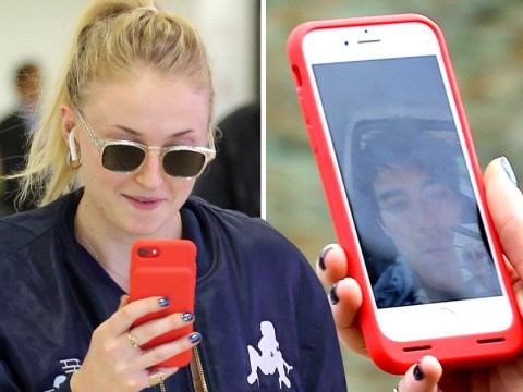 Sophie Turner FaceTimes Joe Jonas as she arrives in Aberdeen for Kit Harington and Rose Leslie's wedding